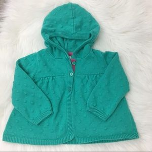 Gymboree Hooded Button up sweater